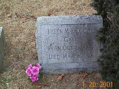 DROWN GALE, HELEN MYRTLE - Sandusky County, Ohio | HELEN MYRTLE DROWN GALE - Ohio Gravestone Photos