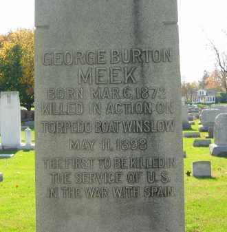 MEEK, GEORGE BURTON - Sandusky County, Ohio | GEORGE BURTON MEEK - Ohio Gravestone Photos