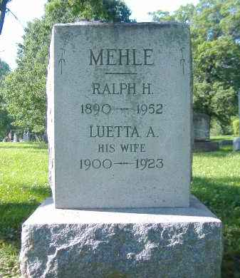 BOWERS MEHLE, LUETTA A. - Sandusky County, Ohio | LUETTA A. BOWERS MEHLE - Ohio Gravestone Photos