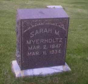 MORSE MYERHOLTZ, SARAH M. - Sandusky County, Ohio | SARAH M. MORSE MYERHOLTZ - Ohio Gravestone Photos
