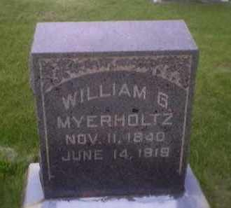 MYERHOLTZ, WILLIAM G. - Sandusky County, Ohio | WILLIAM G. MYERHOLTZ - Ohio Gravestone Photos