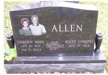 SHOPE ALLEN, SALLY - Scioto County, Ohio | SALLY SHOPE ALLEN - Ohio Gravestone Photos