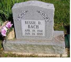 BACH, BESSIE D. - Scioto County, Ohio | BESSIE D. BACH - Ohio Gravestone Photos