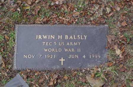 BALSLY, IRWIN H. - Scioto County, Ohio | IRWIN H. BALSLY - Ohio Gravestone Photos