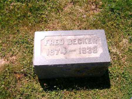 BECKER, FRED - Scioto County, Ohio | FRED BECKER - Ohio Gravestone Photos
