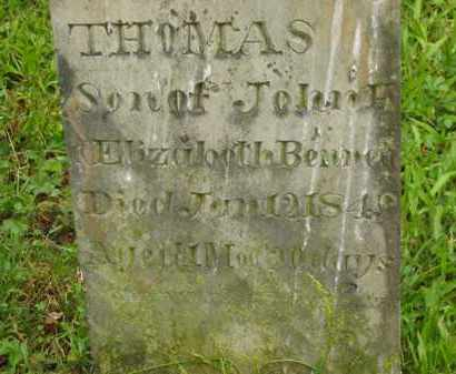 BENNETT, THOMAS - Scioto County, Ohio | THOMAS BENNETT - Ohio Gravestone Photos