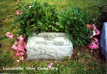 HARRIS BICE, SUSANNAH - Scioto County, Ohio | SUSANNAH HARRIS BICE - Ohio Gravestone Photos