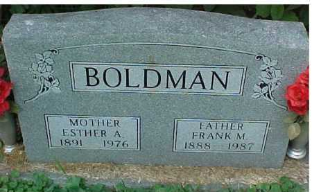 BOLDMAN, ESTHER A. - Scioto County, Ohio | ESTHER A. BOLDMAN - Ohio Gravestone Photos