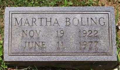 BOLING, MARTHA - Scioto County, Ohio | MARTHA BOLING - Ohio Gravestone Photos