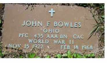 BOWLES, JOHN F. - Scioto County, Ohio | JOHN F. BOWLES - Ohio Gravestone Photos
