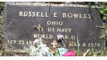 BOWLES, RUSSELL E. - Scioto County, Ohio | RUSSELL E. BOWLES - Ohio Gravestone Photos