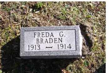 BRADEN, FREDA G. - Scioto County, Ohio | FREDA G. BRADEN - Ohio Gravestone Photos
