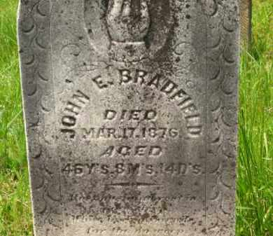 BRADFIELD, JOHN E. - Scioto County, Ohio | JOHN E. BRADFIELD - Ohio Gravestone Photos