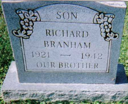BRANHAM, RICHARD - Scioto County, Ohio | RICHARD BRANHAM - Ohio Gravestone Photos
