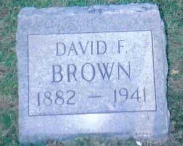 BROWN, DAVID F. - Scioto County, Ohio | DAVID F. BROWN - Ohio Gravestone Photos