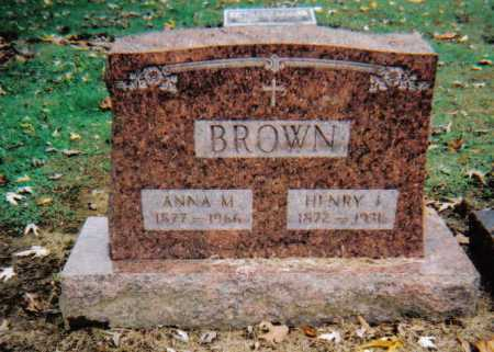 BROWN, HENRY J. - Scioto County, Ohio | HENRY J. BROWN - Ohio Gravestone Photos
