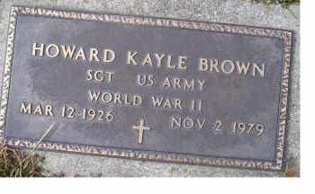 BROWN, HOWARD KAYLE - Scioto County, Ohio | HOWARD KAYLE BROWN - Ohio Gravestone Photos