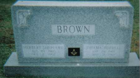 BROWN, HERBERT SHEPHERD - Scioto County, Ohio | HERBERT SHEPHERD BROWN - Ohio Gravestone Photos