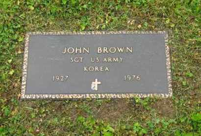 BROWN, JOHN - Scioto County, Ohio | JOHN BROWN - Ohio Gravestone Photos