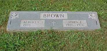 BROWN, JOHN E. - Scioto County, Ohio | JOHN E. BROWN - Ohio Gravestone Photos