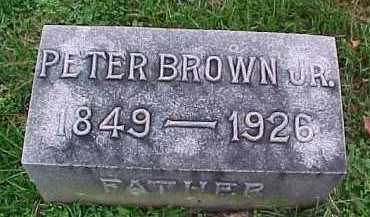 BROWN, PETER JR. - Scioto County, Ohio | PETER JR. BROWN - Ohio Gravestone Photos