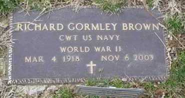 BROWN, RICHARD GORMLEY - Scioto County, Ohio | RICHARD GORMLEY BROWN - Ohio Gravestone Photos