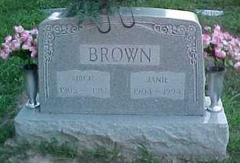 BROWN, VIRGIL - Scioto County, Ohio | VIRGIL BROWN - Ohio Gravestone Photos