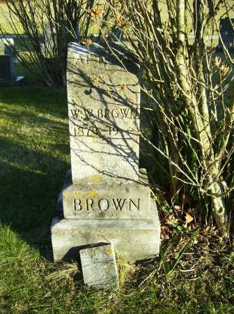 BROWN, W. W. - Scioto County, Ohio | W. W. BROWN - Ohio Gravestone Photos