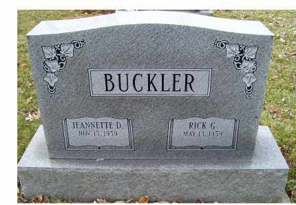 BUCKLER, RICK G. - Scioto County, Ohio | RICK G. BUCKLER - Ohio Gravestone Photos
