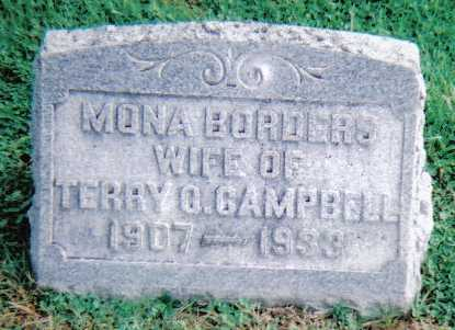 BORDERS CAMPBELL, MONA - Scioto County, Ohio | MONA BORDERS CAMPBELL - Ohio Gravestone Photos