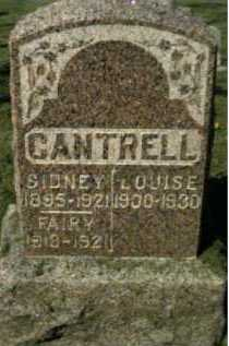 CANTRELL, FAIRY - Scioto County, Ohio | FAIRY CANTRELL - Ohio Gravestone Photos