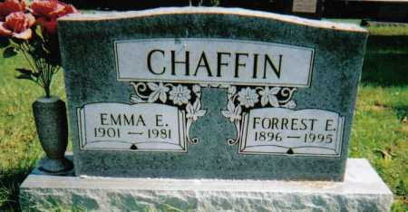 CHAFFIN, EMMA E. - Scioto County, Ohio | EMMA E. CHAFFIN - Ohio Gravestone Photos