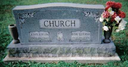CHURCH, JOHN ERVIN - Scioto County, Ohio | JOHN ERVIN CHURCH - Ohio Gravestone Photos