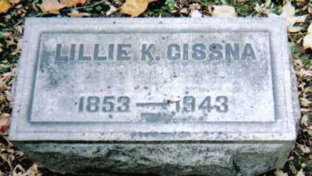CISSNA, LILLIE K. - Scioto County, Ohio | LILLIE K. CISSNA - Ohio Gravestone Photos