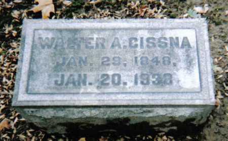 CISSNA, WALTER A. - Scioto County, Ohio | WALTER A. CISSNA - Ohio Gravestone Photos