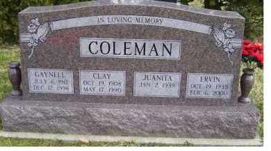 COLEMAN, CLAY - Scioto County, Ohio | CLAY COLEMAN - Ohio Gravestone Photos