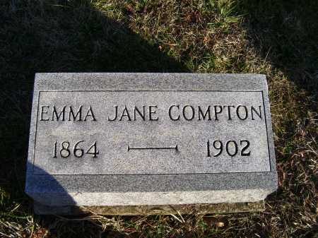COMPTON, EMMA JANE - Scioto County, Ohio | EMMA JANE COMPTON - Ohio Gravestone Photos