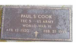 COOK, PAUL S. - Scioto County, Ohio | PAUL S. COOK - Ohio Gravestone Photos