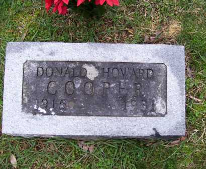 HOWARD COOPER, DONALD - Scioto County, Ohio | DONALD HOWARD COOPER - Ohio Gravestone Photos