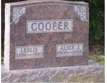 COOPER, ALICE J. - Scioto County, Ohio | ALICE J. COOPER - Ohio Gravestone Photos