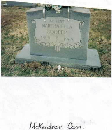 COOPER, MARTHA ELLA - Scioto County, Ohio | MARTHA ELLA COOPER - Ohio Gravestone Photos