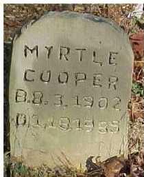 COOPER, MYRTLE - Scioto County, Ohio | MYRTLE COOPER - Ohio Gravestone Photos