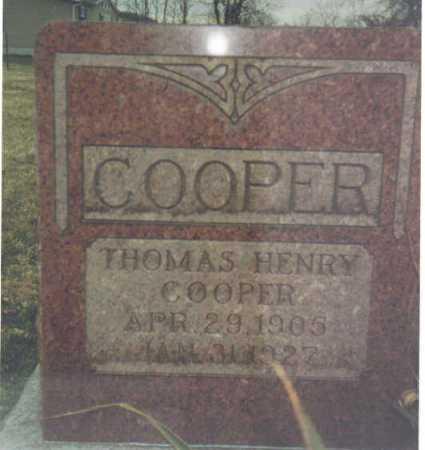 COOPER, THOMAS HENRY - Scioto County, Ohio | THOMAS HENRY COOPER - Ohio Gravestone Photos