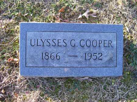 COOPER, ULYSSES G. - Scioto County, Ohio | ULYSSES G. COOPER - Ohio Gravestone Photos