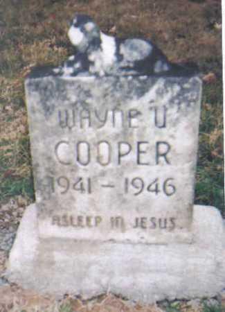 COOPER, WAYNE U. - Scioto County, Ohio | WAYNE U. COOPER - Ohio Gravestone Photos
