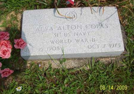 COPAS, ALVA ALTON - Scioto County, Ohio   ALVA ALTON COPAS - Ohio Gravestone Photos