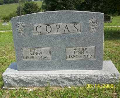 COPAS, JENNIE - Scioto County, Ohio | JENNIE COPAS - Ohio Gravestone Photos