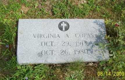 COPAS, VIRGINIA A - Scioto County, Ohio | VIRGINIA A COPAS - Ohio Gravestone Photos