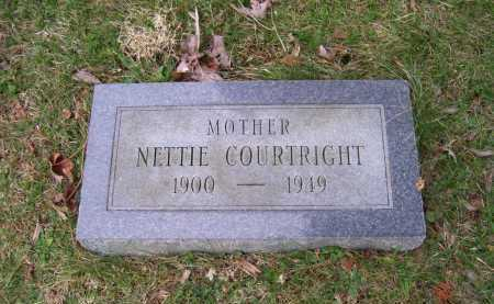 COURTRIGHT, NETTIE - Scioto County, Ohio | NETTIE COURTRIGHT - Ohio Gravestone Photos