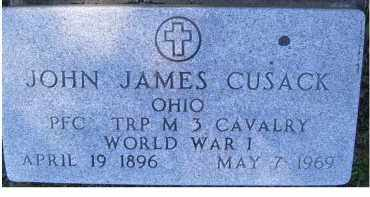 CUSACK, JOHN JAMES - Scioto County, Ohio | JOHN JAMES CUSACK - Ohio Gravestone Photos